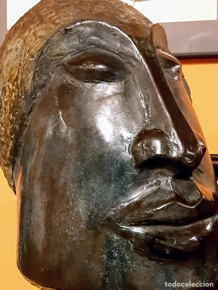"JAVIER RODANES OVEJAS ""CABEZA CON ESPIRAL"" (Arte - Escultura - Bronce)"