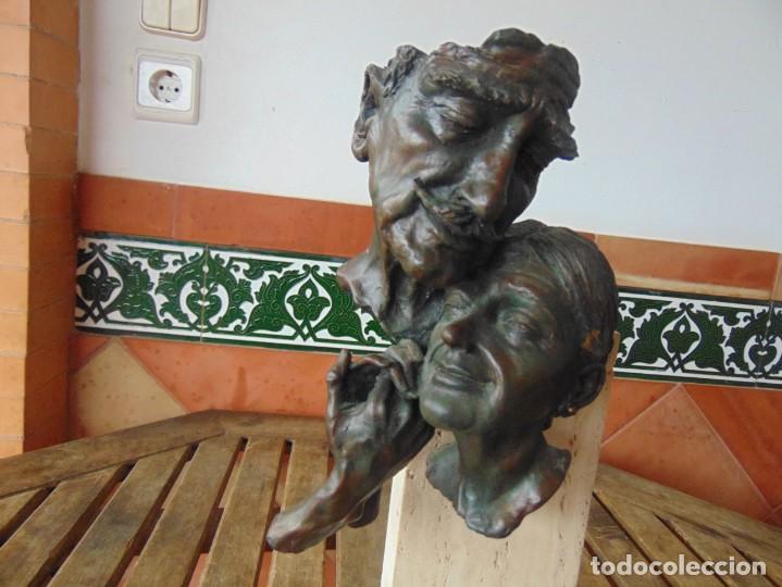 Arte: ESCULTURA EN RESINA RECUBIERTA DE BRONCE Y MÁRMOL DE JOSE LUIS CASASOLA NUMERADA Y LIMITADA EBANO - Foto 4 - 230342270