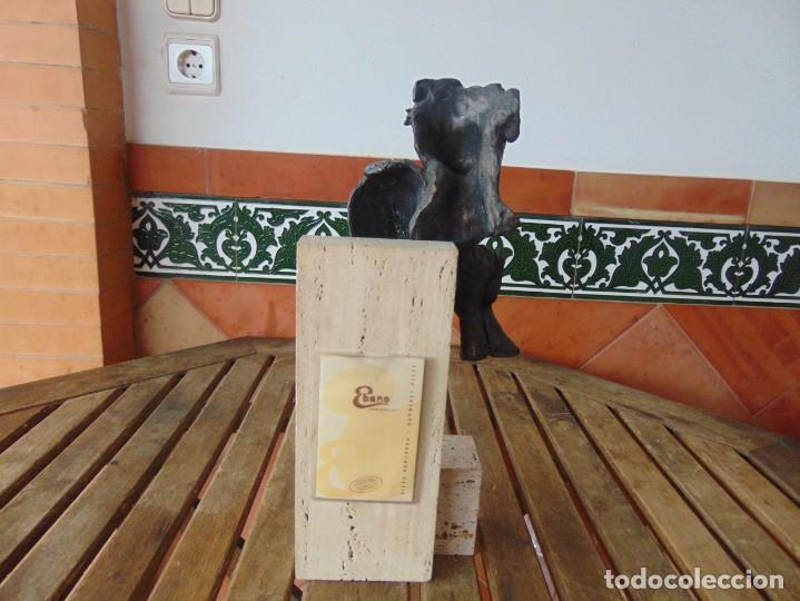 Arte: ESCULTURA EN RESINA RECUBIERTA DE BRONCE Y MÁRMOL DE JOSE LUIS CASASOLA NUMERADA Y LIMITADA EBANO - Foto 7 - 230342270