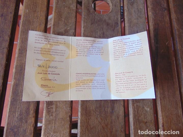 Arte: ESCULTURA EN RESINA RECUBIERTA DE BRONCE Y MÁRMOL DE JOSE LUIS CASASOLA NUMERADA Y LIMITADA EBANO - Foto 16 - 230342270