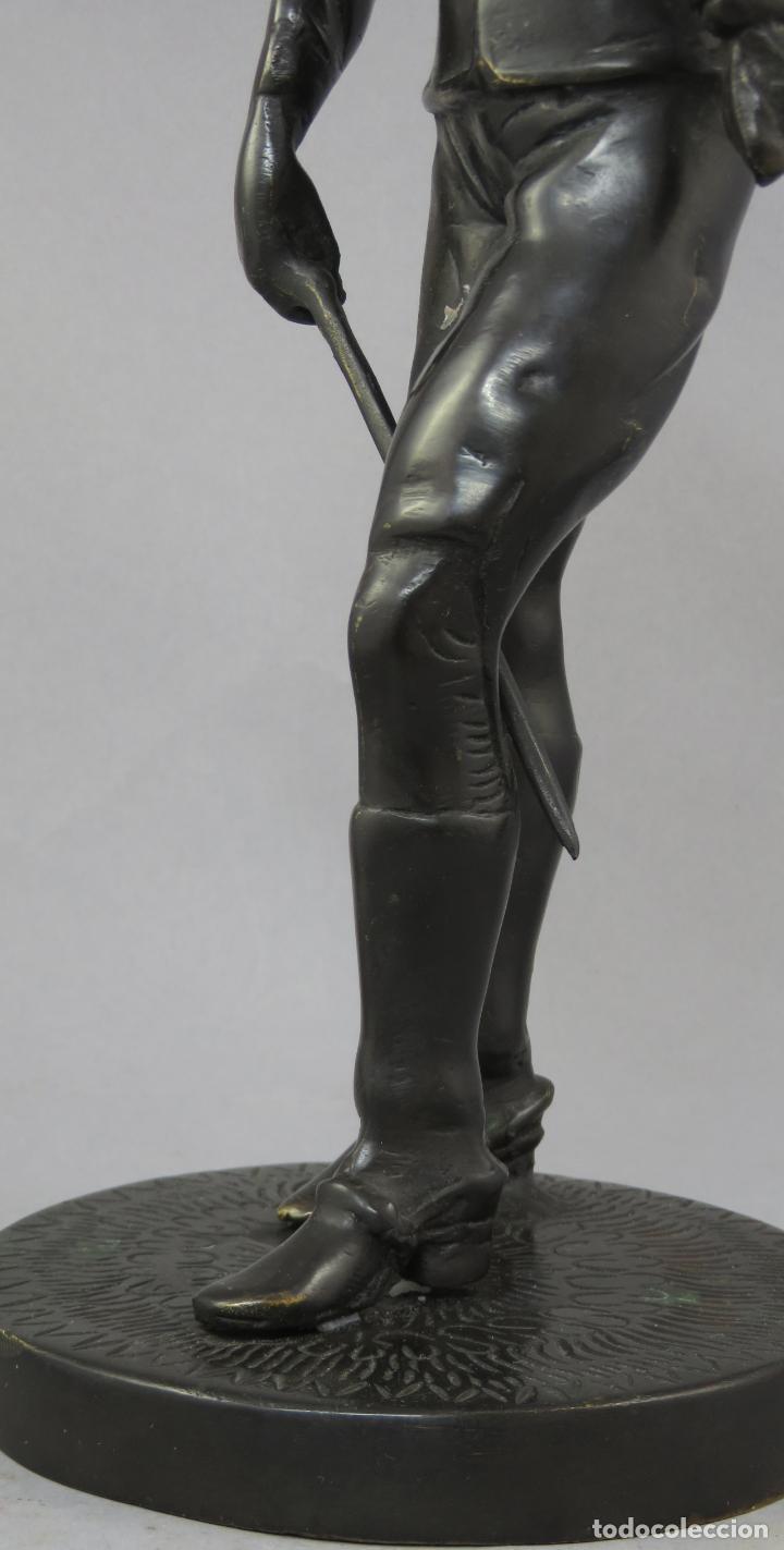 Arte: Escultura soldado húsar de la Princesa en bronce pulido siglo XX - Foto 5 - 230361210