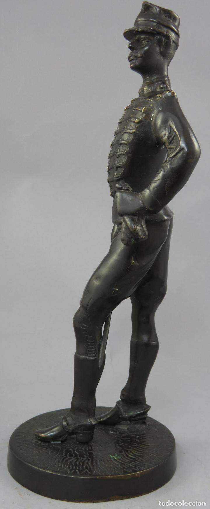 Arte: Escultura soldado húsar de la Princesa en bronce pulido siglo XX - Foto 6 - 230361210