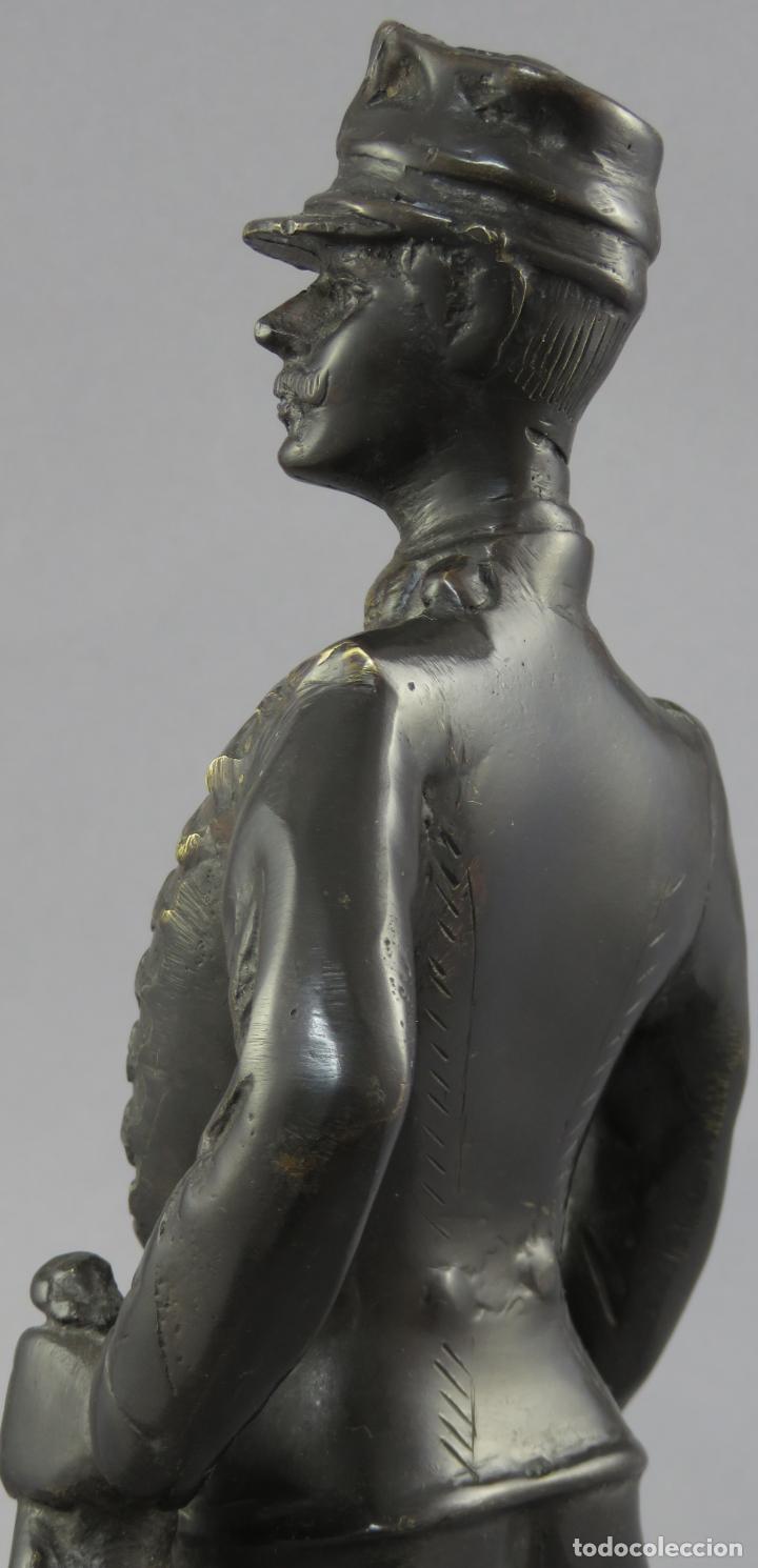 Arte: Escultura soldado húsar de la Princesa en bronce pulido siglo XX - Foto 7 - 230361210