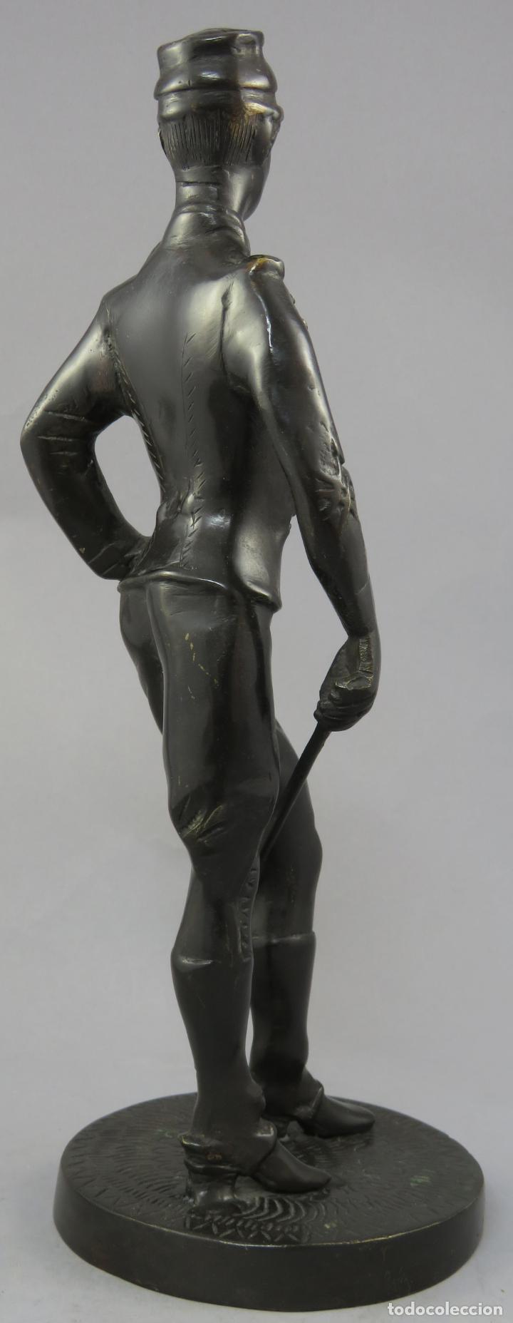 Arte: Escultura soldado húsar de la Princesa en bronce pulido siglo XX - Foto 8 - 230361210