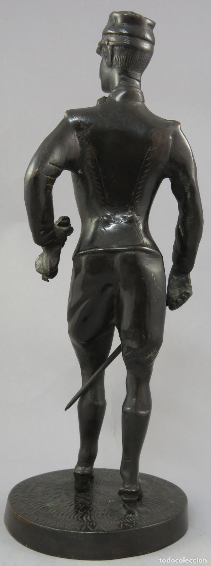 Arte: Escultura soldado húsar de la Princesa en bronce pulido siglo XX - Foto 9 - 230361210