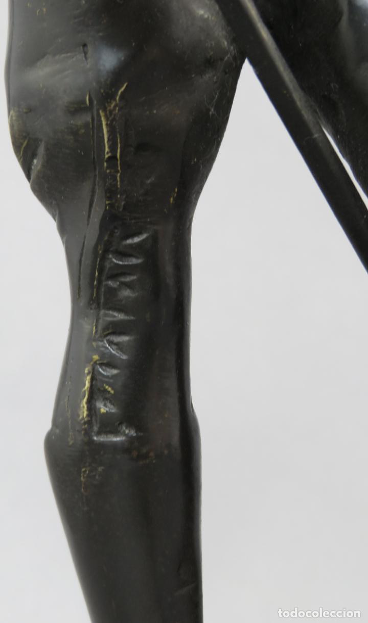 Arte: Escultura soldado húsar de la Princesa en bronce pulido siglo XX - Foto 10 - 230361210