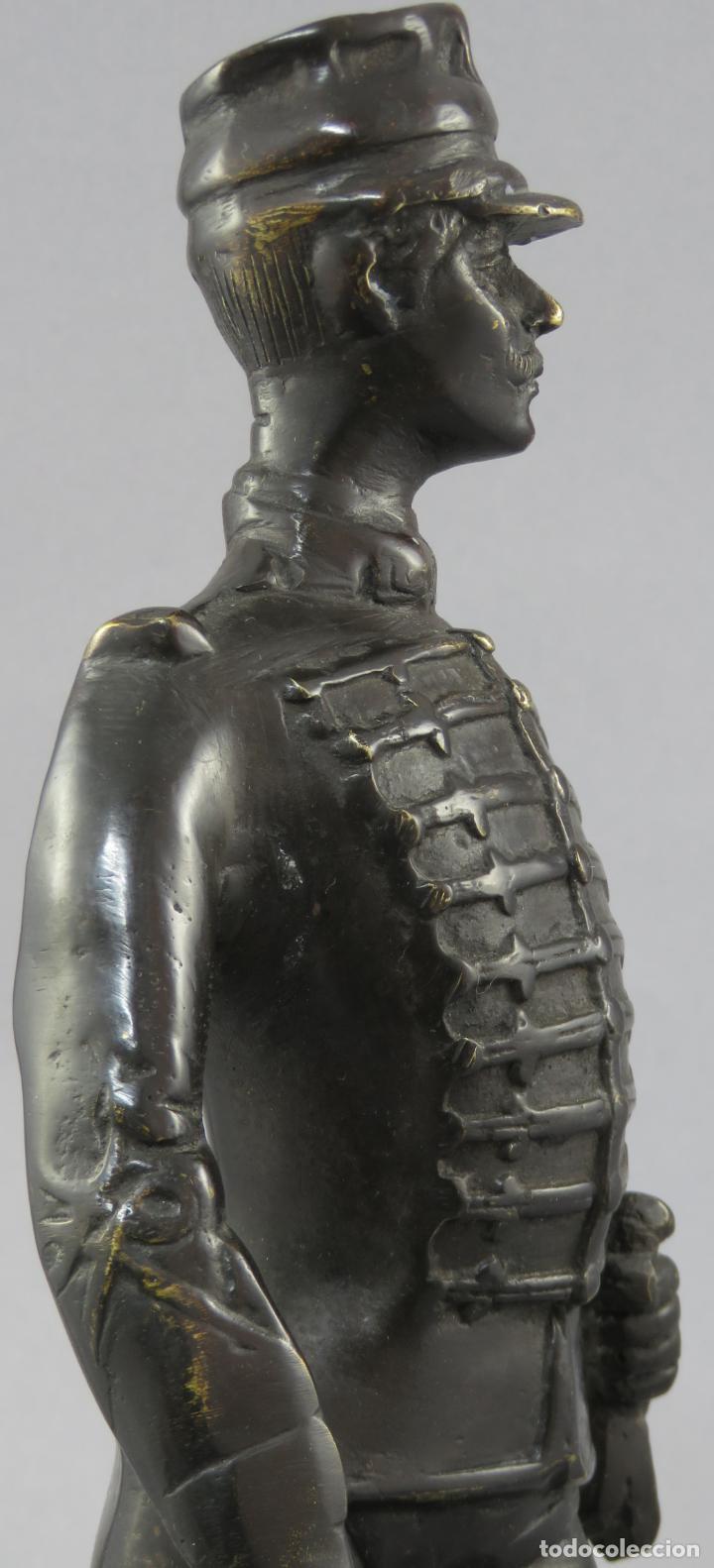 Arte: Escultura soldado húsar de la Princesa en bronce pulido siglo XX - Foto 11 - 230361210