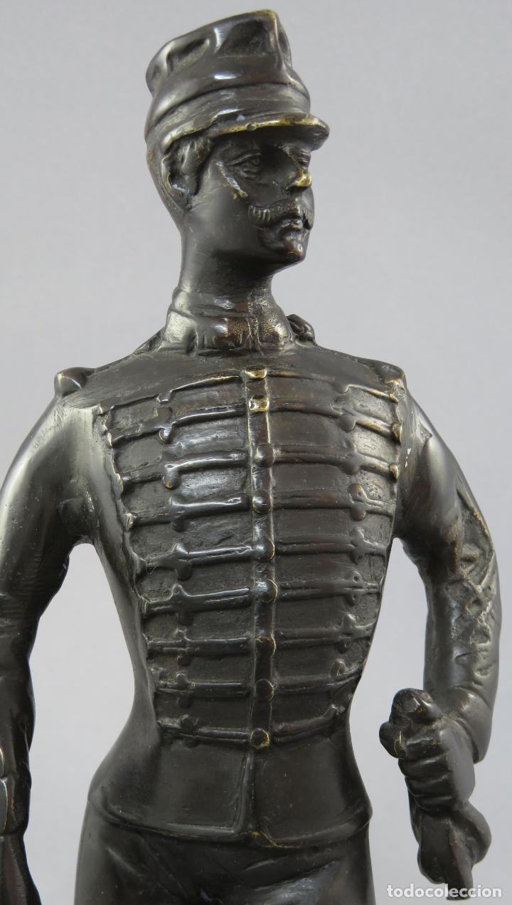 Arte: Escultura soldado húsar de la Princesa en bronce pulido siglo XX - Foto 13 - 230361210
