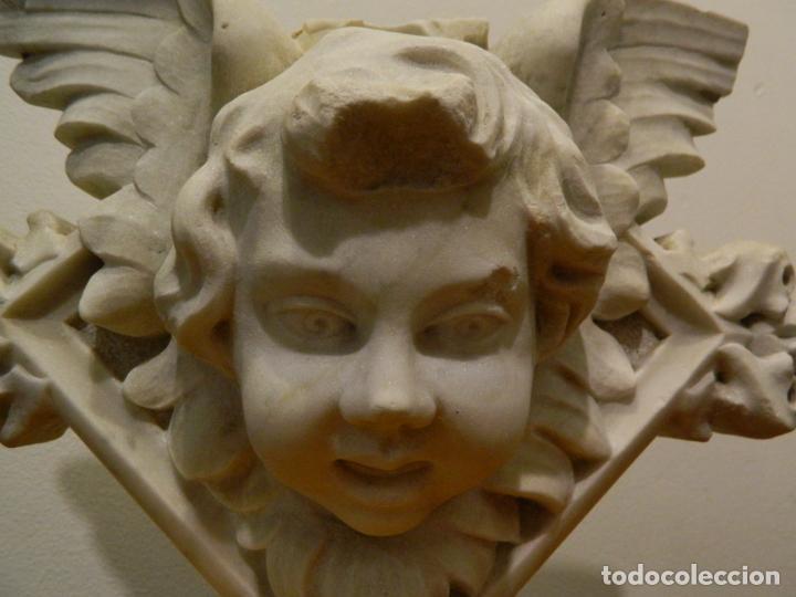 Arte: Angel marmol esculpido, Escuela española, estilo gótico. - Foto 2 - 230756450