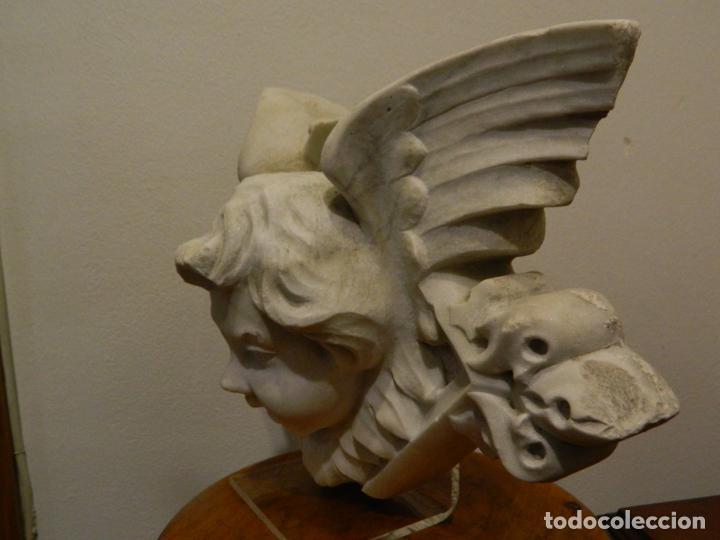 Arte: Angel marmol esculpido, Escuela española, estilo gótico. - Foto 5 - 230756450
