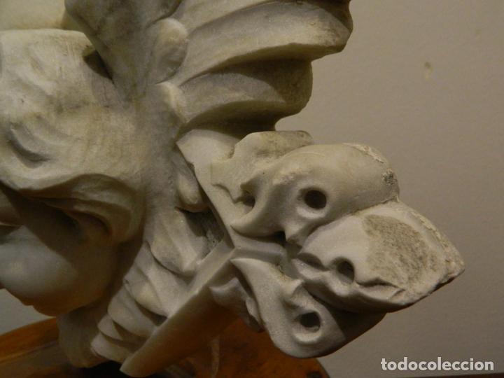 Arte: Angel marmol esculpido, Escuela española, estilo gótico. - Foto 7 - 230756450