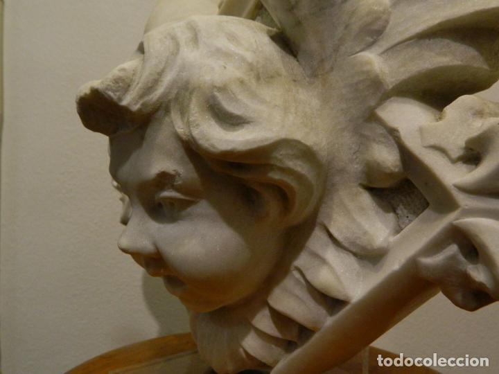 Arte: Angel marmol esculpido, Escuela española, estilo gótico. - Foto 8 - 230756450