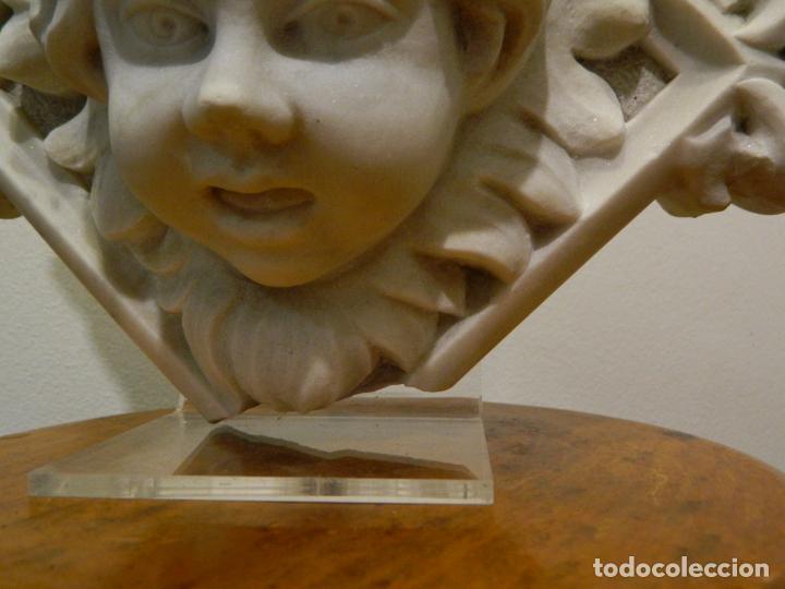 Arte: Angel marmol esculpido, Escuela española, estilo gótico. - Foto 11 - 230756450
