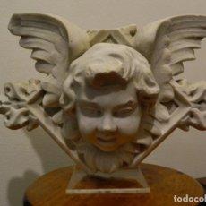 Arte: ANGEL MARMOL ESCULPIDO, ESCUELA ESPAÑOLA, ESTILO GÓTICO.. Lote 230756450
