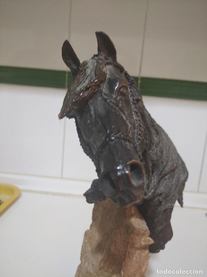 Arte: Escultura resina laminada en bronce, sobre piedra JL casasola cabezade caballo - Foto 12 - 220766106