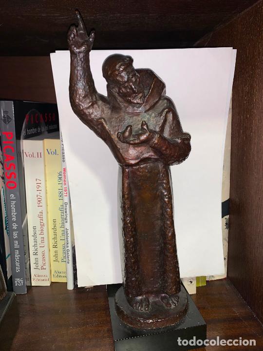 Arte: Sant Francesc assis en bronce de Manolo Hugué - Foto 2 - 231382760