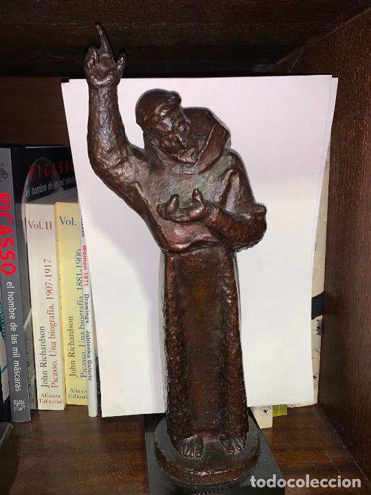 Arte: Sant Francesc assis en bronce de Manolo Hugué - Foto 3 - 231382760