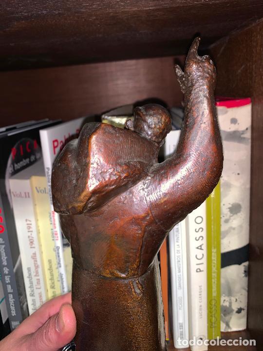 Arte: Sant Francesc assis en bronce de Manolo Hugué - Foto 9 - 231382760