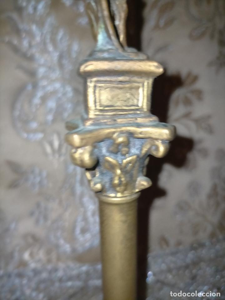 Arte: MINIATURA escultura BRONCE PAREJA COLUMNAS ROMANAS DE LA ALAMENDA DE HERCULES SEVILLA PEANA MADERA - Foto 17 - 231542670