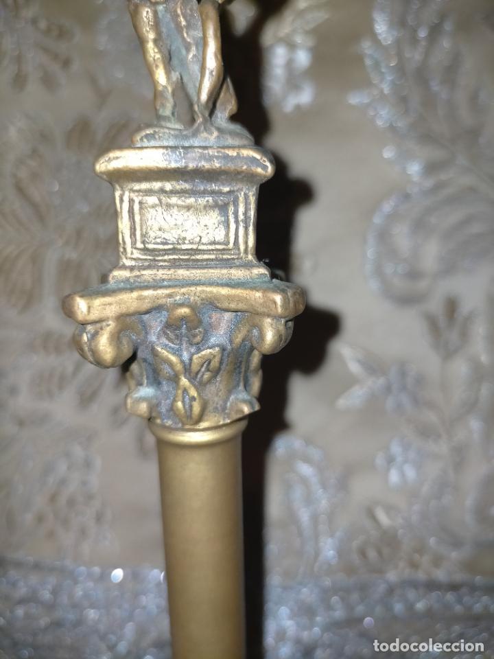 Arte: MINIATURA escultura BRONCE PAREJA COLUMNAS ROMANAS DE LA ALAMENDA DE HERCULES SEVILLA PEANA MADERA - Foto 18 - 231542670