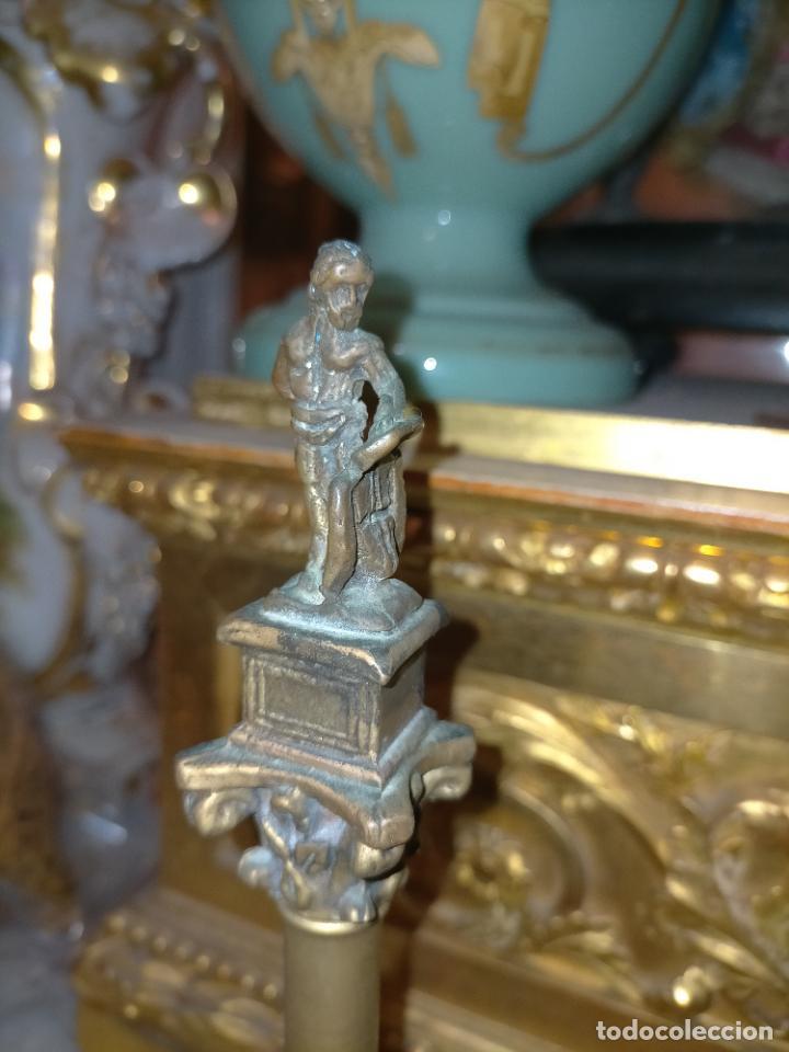 Arte: MINIATURA escultura BRONCE PAREJA COLUMNAS ROMANAS DE LA ALAMENDA DE HERCULES SEVILLA PEANA MADERA - Foto 23 - 231542670