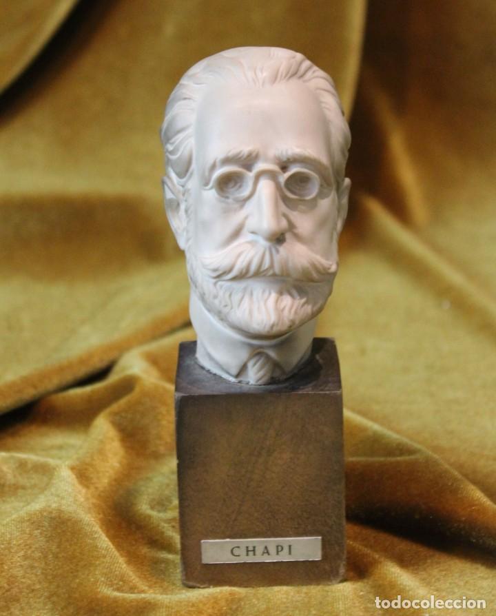 Arte: Ruperto Chapí, busto, 17 cm - Foto 4 - 232320800