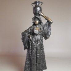 Arte: ESCULTURA BRONCE DE ERNEST WANTE. (BELGICA 1872-1960) TITULADA DONCELLA ARABE. Lote 232353825