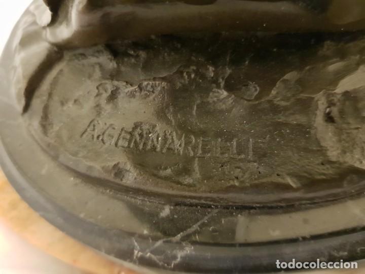 Arte: Escultura de bronce art deco. Firmada por A. Gennarelli. Aspasia de Mileto - Foto 6 - 233044140