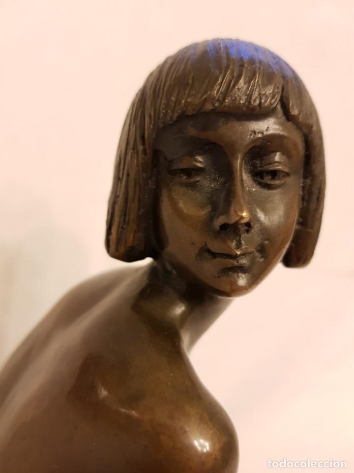 Arte: Escultura de bronce art deco. Firmada por A. Gennarelli. Aspasia de Mileto - Foto 7 - 233044140