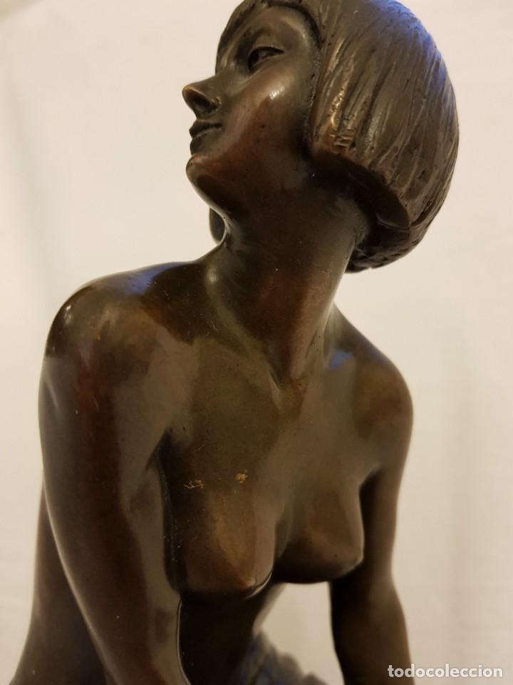 Arte: Escultura de bronce art deco. Firmada por A. Gennarelli. Aspasia de Mileto - Foto 8 - 233044140