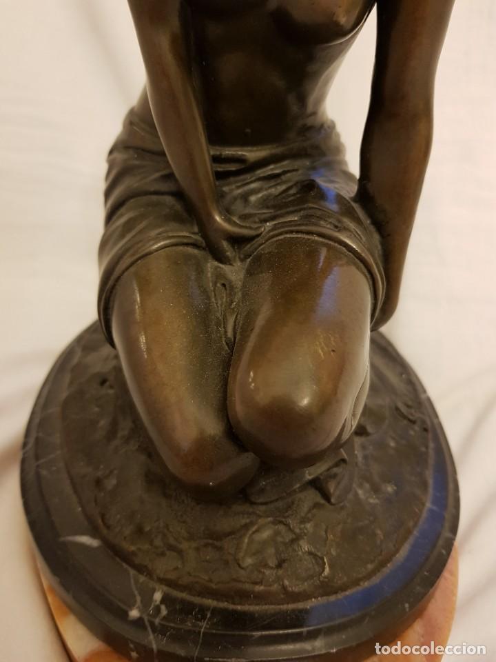 Arte: Escultura de bronce art deco. Firmada por A. Gennarelli. Aspasia de Mileto - Foto 9 - 233044140