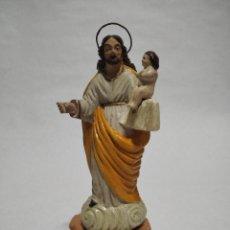 Arte: SAN JOSÉ CON EL NIÑO JESÚS. BARRO DEVOCIONAL. MURCIA.. Lote 233125600