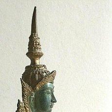 Arte: ANTIGUA ESCULTURA THAI BUDA ORO Y BRONCE MACIZO 3,5 KG DIOSA TAILANDESA 40 CM 530,00EU. Lote 233844675