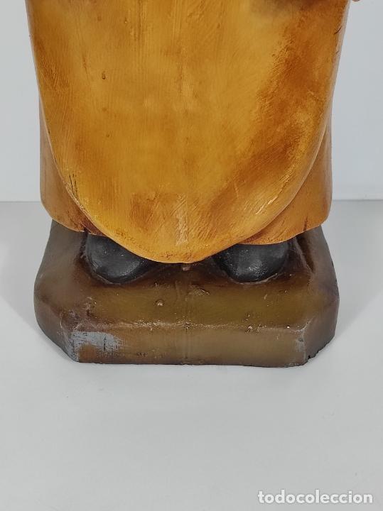 Arte: Divertido Cerdo de Antigua Carnicería - Madera Tallada y Policromada - Altura 85 cm - Foto 3 - 234458875