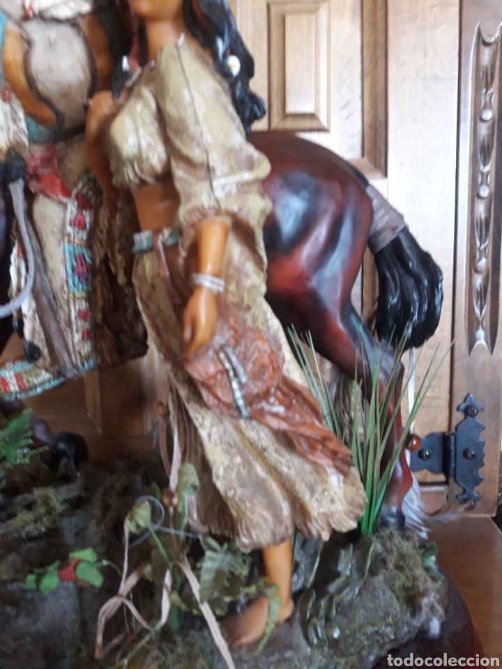 Arte: Magnífica escultura de resina de indios americanos - Foto 3 - 234484750