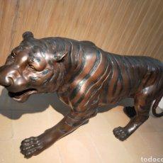 Arte: TIGRE DE BRONCE A TAMAÑO NATURAL. Lote 234504045
