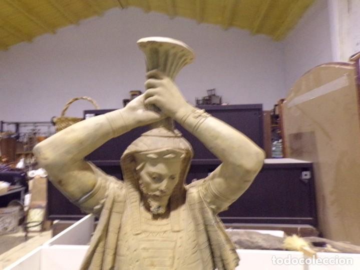 Arte: antigua escultura soldado parece egipcio de terracota de 92 cm altura ¿vallmitjana? - Foto 3 - 234703250