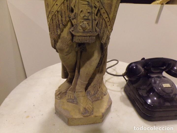 Arte: antigua escultura soldado parece egipcio de terracota de 92 cm altura ¿vallmitjana? - Foto 7 - 234703250