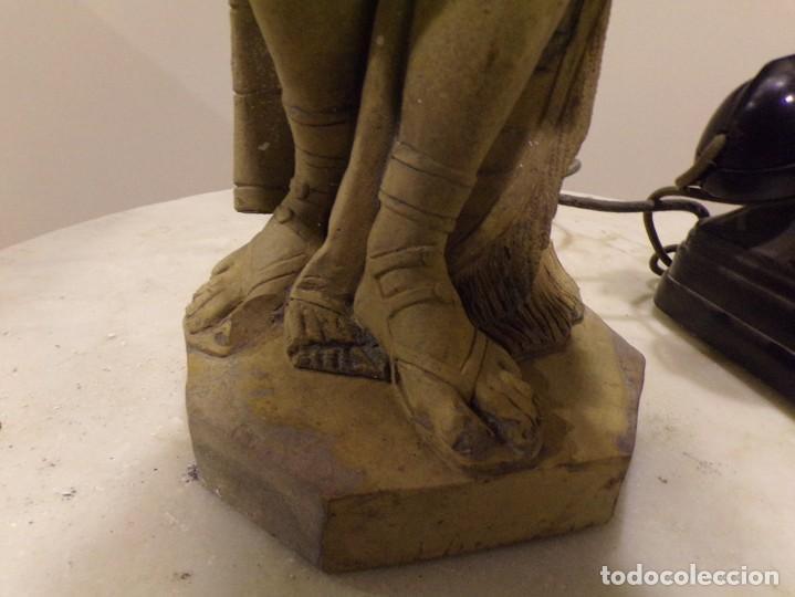 Arte: antigua escultura soldado parece egipcio de terracota de 92 cm altura ¿vallmitjana? - Foto 8 - 234703250