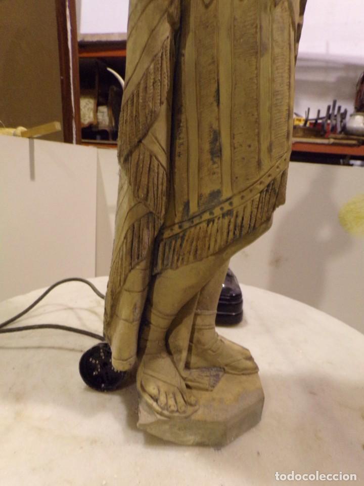 Arte: antigua escultura soldado parece egipcio de terracota de 92 cm altura ¿vallmitjana? - Foto 13 - 234703250