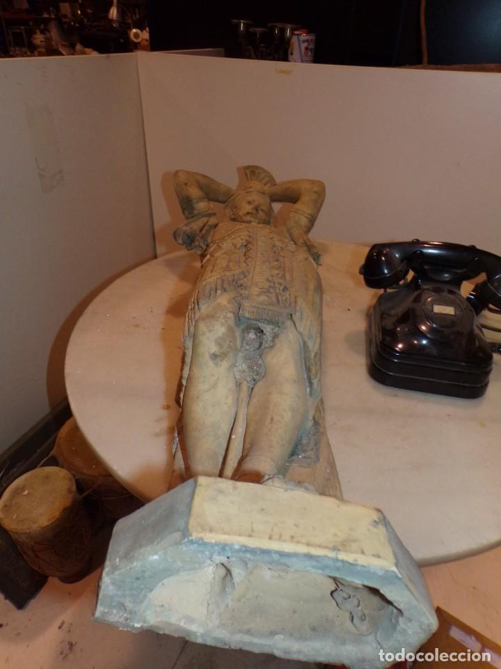 Arte: antigua escultura soldado parece egipcio de terracota de 92 cm altura ¿vallmitjana? - Foto 17 - 234703250