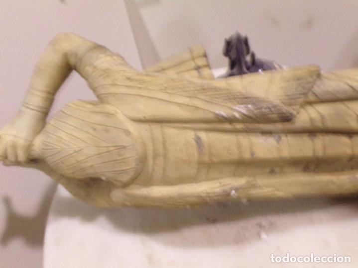 Arte: antigua escultura soldado parece egipcio de terracota de 92 cm altura ¿vallmitjana? - Foto 22 - 234703250