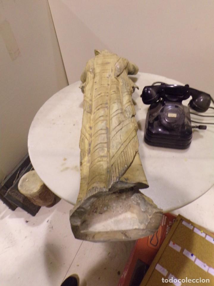 Arte: antigua escultura soldado parece egipcio de terracota de 92 cm altura ¿vallmitjana? - Foto 24 - 234703250
