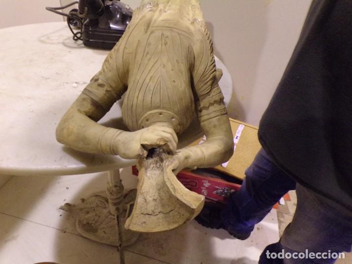Arte: antigua escultura soldado parece egipcio de terracota de 92 cm altura ¿vallmitjana? - Foto 27 - 234703250