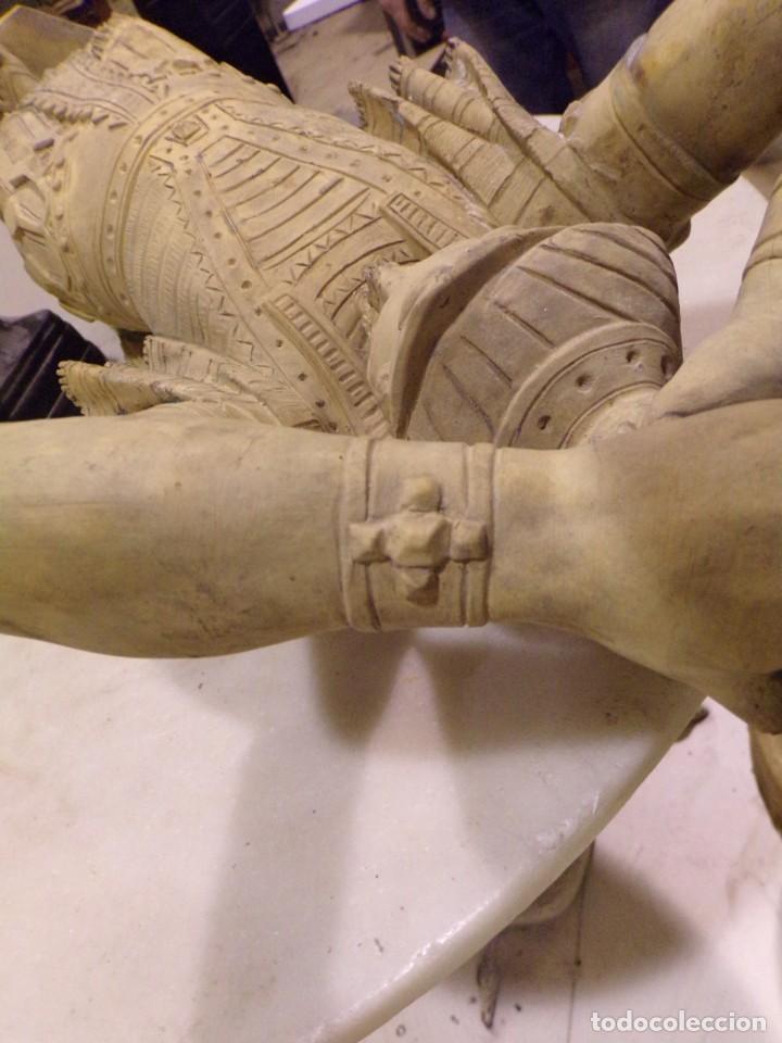 Arte: antigua escultura soldado parece egipcio de terracota de 92 cm altura ¿vallmitjana? - Foto 31 - 234703250