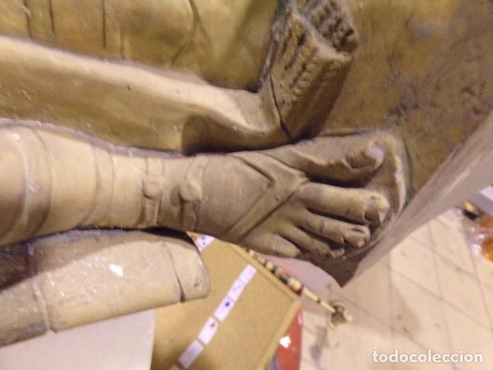 Arte: antigua escultura soldado parece egipcio de terracota de 92 cm altura ¿vallmitjana? - Foto 32 - 234703250