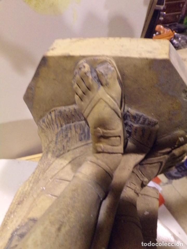 Arte: antigua escultura soldado parece egipcio de terracota de 92 cm altura ¿vallmitjana? - Foto 33 - 234703250
