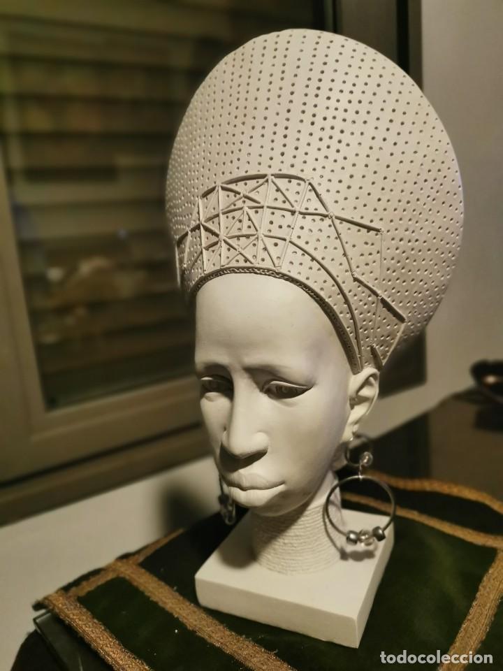 Arte: Escultura de chica africana. 2 - Foto 2 - 234763915