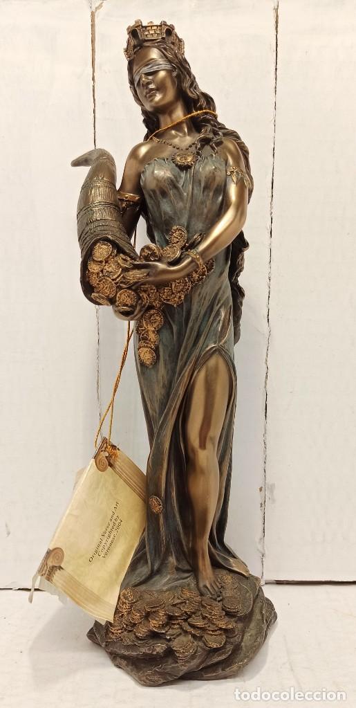 FIGURA ESCULTURA RESINA VERONESE DE SIGRIS (BRONCE/BRONCE ENVEJECIDO) DIOSA ROMANA FORTUNA (Arte - Escultura - Resina)