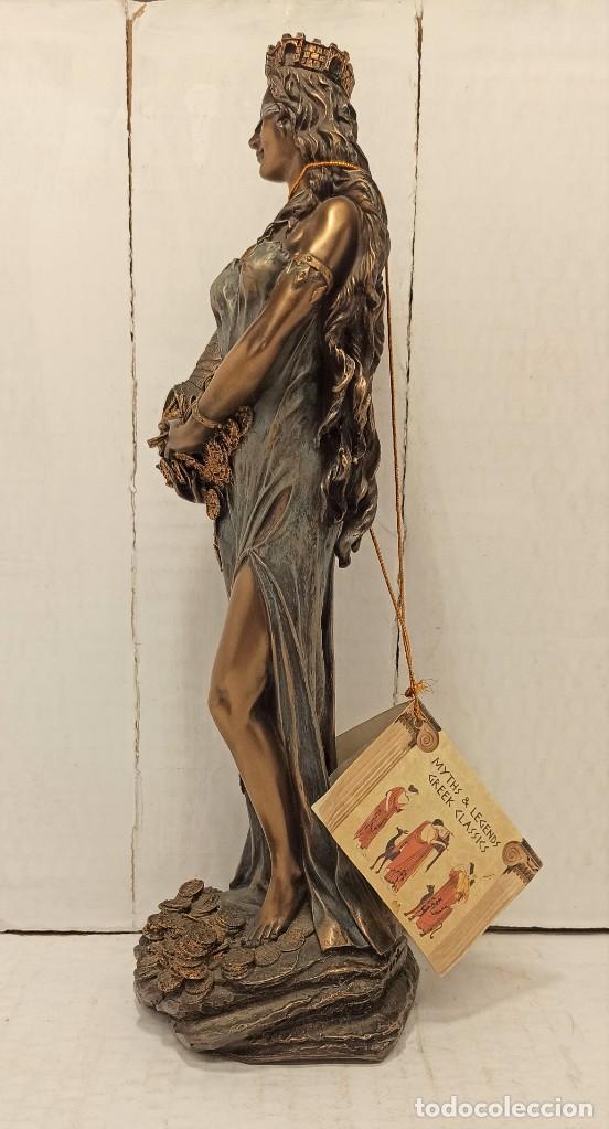 Arte: Figura Escultura Resina Veronese de Sigris (Bronce/Bronce Envejecido) Diosa romana Fortuna - Foto 2 - 234830555